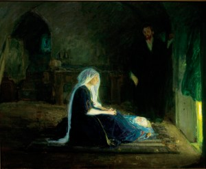 Henry Ossawa Tanner American, 1859-1937 The Holy Family, ca. 1910 Oil on canvas Muskegon Museum of Art Hackley Picture Fund Purchase 1911.1