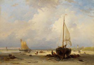 Dutch Coastal Scene by Andreas Schelfhout