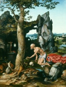 St. Jerome in Penitence by Joos van Cleve